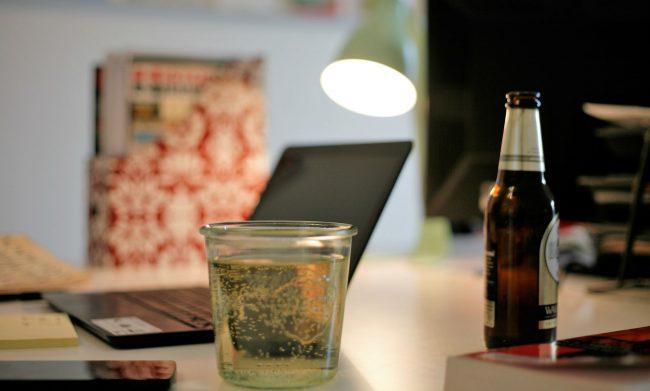 Bier op kantoor